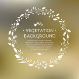 Vector illustration of a Vegetable wreath Royalty Free Stock Photography