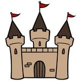 Castle - Vector Illustration Royalty Free Stock Image