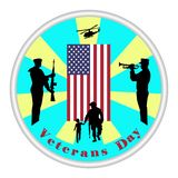 Veterans day sign. Honoring all who served. vector illustration