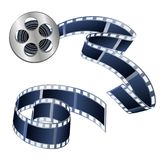 Vector illustration of videotapes and films isolated on a white. Background is used as decorative elements Royalty Free Stock Photos