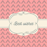 Vector illustration of vintage background and frame.  Royalty Free Stock Photo