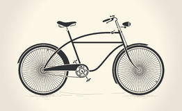 Vector illustration of vintage bicycle Stock Images