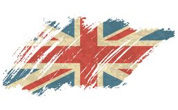 Vector illustration Vintage Flag of UK. Grungy British flag. Vector grunge retro design Great Britain flag background. Vector illustration Vintage Flag of UK royalty free illustration