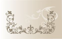 Vector illustration of vintage floral ornament Royalty Free Stock Photos