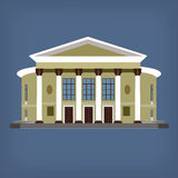 Vector illustration of vintage historical building Royalty Free Stock Image