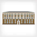 Vector illustration of vintage historical building Royalty Free Stock Photos