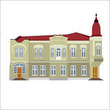 Vector illustration of vintage historical building Royalty Free Stock Photo