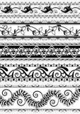 Vintage ornate floral border for divider Royalty Free Stock Image