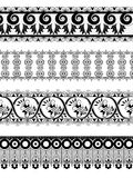 Vintage ornate floral border for divider Royalty Free Stock Photos