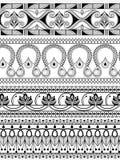 Vintage ornate floral border for divider Stock Image