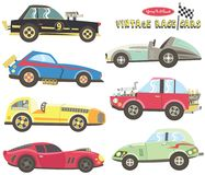Vintage Race Car Collections. royalty free illustration