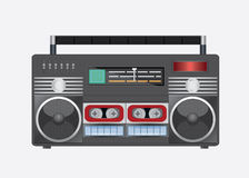 Vector illustration of vintage radio tape recoreder. Vector illustrations eps 10 Stock Photography
