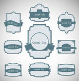 Vector illustration of vintage retro labels Stock Photo
