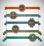 Vector illustration of vintage retro labels Stock Image