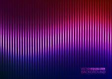Vector Illustration of a Violet Music Equalizer Royalty Free Stock Image