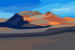 Vector illustration of volcanic landscape Royalty Free Stock Images