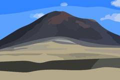Vector illustration of volcanic landscape Stock Images