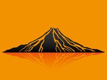 Vector illustration. Volcano. Royalty Free Stock Photography