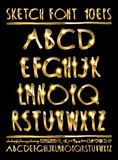 Vector illustration volumetric gold letters Royalty Free Stock Photos