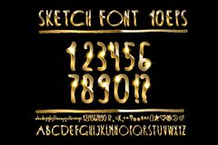Vector illustration volumetric gold letters Royalty Free Stock Photography