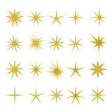 Vector Illustration von goldenen Funken und funkt Elemente Lizenzfreies Stockbild