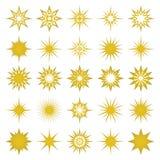 Vector Illustration von goldenen Funken und funkt Elemente Stockfotos