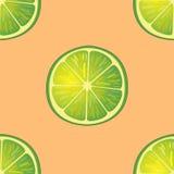 Vector Illustration von großen Kalkscheiben in den gleichen Winkeln auf Orange Muster Lizenzfreie Stockfotos