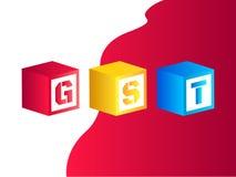 Vector Illustration von Waren und Service-Steuer oder GST Lizenzfreie Stockbilder