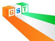 Vector Illustration von Waren und Service-Steuer oder GST Lizenzfreie Stockfotografie