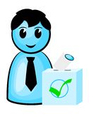 Voter at the polls. Vector illustration of a voter at the polls royalty free illustration