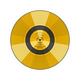 Space theme illustration. Vector illustration of the voyager golden record with explanation on white background. Space and solar system topic Royalty Free Stock Photo