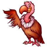 Vector illustration of vulture in cartoon style Stock Photos