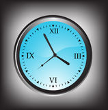 Vector illustration of wall clock Stock Photography