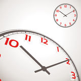 Vector illustration of a wall clock Stock Photo
