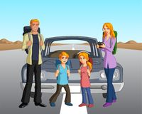 Nordic Family on a Road Trip Stock Photos