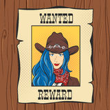 Vector illustration of Wanted Vintage Western Poster Royalty Free Stock Photos