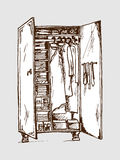 Vector illustration of wardrobe closet Stock Image