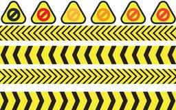 Vector illustration of warning icons. EPS 10 royalty free illustration