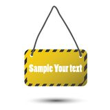 Vector illustration of warning sign. For design to production Royalty Free Stock Photo