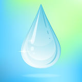 Vector water drop. Vector illustration with water drop on colored background Stock Image