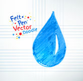 Vector illustration of water drop Royalty Free Stock Photo