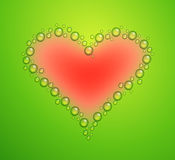 Vector illustration of water drops heart Stock Photos