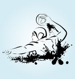 Vector illustration of a water polo player Royalty Free Stock Photo