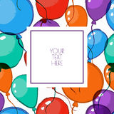 Vector illustration of watercolor balloons. Stock Photo