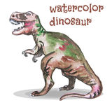 Vector illustration of watercolor dinosaur. Royalty Free Stock Images