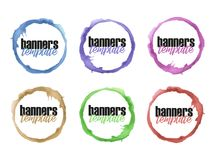 Watercolor painted circle Royalty Free Stock Photography