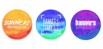 Watercolor painted circle Stock Image