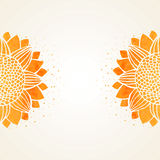 Vector illustration with watercolor sunflowers vector illustration