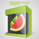 Vector illustration of watermelon in packaged. Royalty Free Stock Images