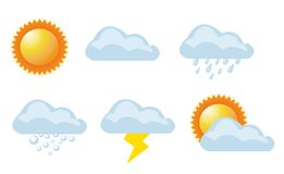 Vector illustration of weather Royalty Free Stock Images